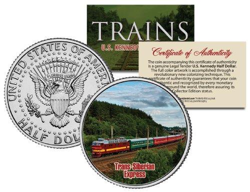 TRANS-SIBERIAN EXPRESS * Famous Trains * JFK Half Dollar Colorized U.S. Coin