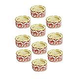 Kriti Creations Set Of 10 Traditional Wax Filled Clay Diyas - B0179B2M4E