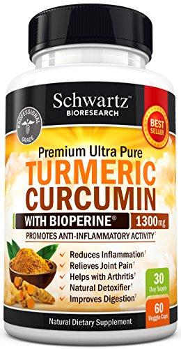 Premium Turmeric Curcumin 1300mg with Bioperine® (95{0ad59209ba3ce7f48e71d4a0dc628eee9b107ea7079661ded2b3bda89b047a8b} Standardized Curcuminoids) Non GMO, Gluten Free. Extra Strength Turmeric Pills with Black Pepper. No Binders. Made in the USA Money Back Guarantee
