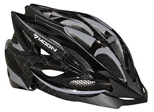 Moon Adult Bicycle Mtb/Road Bike Cycling Mountain Racing Helmets Adjustable Ultralight with Visor,26 Vents,Unisex Black&Gray L