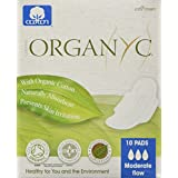 ORGANYC Hypoallergenic 100% Organic Cotton Pads Day Wings 10-count Boxes (Pack Of 2)