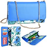 KroO LG K10 K7 V10 5.7 Ray LG G Vista 2 LG G4 Pro LG G Stylo LG G Pro 2 Phone Case 2016 Electric Blue Green Floral...