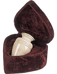 Elegante Beautifully Crafted Genuine Marble Creamwash Keepsake With Elegant Velvet Case