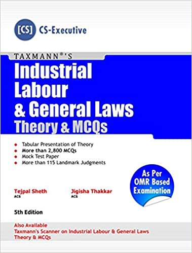 Industrial Labour & General Laws - Theory & MCQs