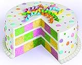 Wilton 2105-9961 Checkerboard Round Cake Set Backform, Aluminium, silber, 5 x 24 x 24 cm, 4 Einheiten -