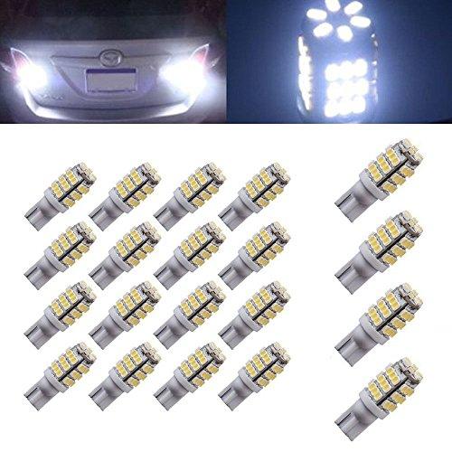 Motorus93 20X T10 192 168 2825 Wedge Side RV Trailer 42-SMD LED Pure White Interior Light
