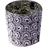Sutra Decor Glass 1 - Cup Tealight Holder (Silver, Pack Of 1)