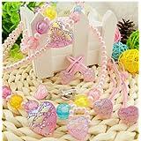 Kids Jewellery Girls Fashion Fancy Partywear Artficial Pearl Jewellery Set