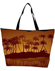 Snoogg Tropical Night Vector Background Waterproof Bag Made Of High Strength Nylon