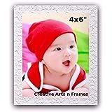 """White Photo Frame Photo Size: 4x6"""" Frame Size: 6x8"""""""