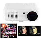 Flylinktech SV-226 2200 Lumens HD LED Projector 800*480 With 2 HDMI/2 USB/AV/TV/ RCA For Home Theater Entertainment...