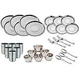 Kitchen Pro Stainless Steel Dinner Set Of 30 Pcs