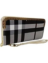 Sn Louis Fabric Black N White Women Wallet SAMCO-718