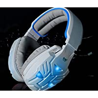 Yobo Y028 Over-ear Stereo Mega Bass Noise Cancelling Headset With Microphone For PC And Notebook White White