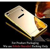 SDO™ Metal Bumper Frame Case With Acrylic Mirror Back Cover Case For Lenovo A7000 Plus / Lenovo K3 Note - Gold