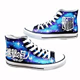 Attack on Titan Shingeki No Kyojin Cosplay Shoes Canvas Shoes Hand-painted Shoes Luminous 1