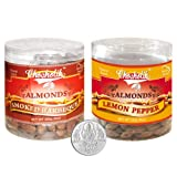 Chocholik Dry Fruits - Almonds Smoked Barbeque & Lemon Pepper With 5gm Pure Silver Coin - Diwali Gifts - 2 Combo...