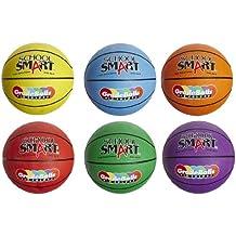 School Smart Gradeballs Rubber Basketballs - Junior Size - Set Of 6 - Assorted Colors