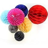 Generic Rose, 25 Cm : 1pcs/lot, 10/15/20/25/30cm Decorative Colorful Flower Paper Lantern Honeycomb Ball Wedding...