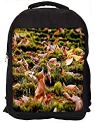 """Snoogg Dried Leaves On The Ground Casual Laptop Backpak Fits All 15 - 15.6"""" Inch Laptops"""
