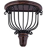 Shilpi Fancy Mango Wood And Wrought Iron Wooden Wall Bracket/Shelve Decorative For Living Room