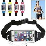 Running Belt Waist Pack, Imangoo Outdoor Sports Waist Pouch Wallet Keys Sleeve Adjustable Hiking Belt Clear Touchscreen...