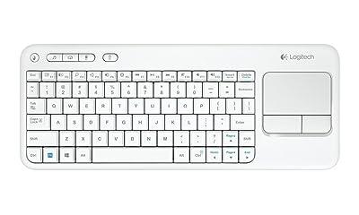 Logitech KB K400 - Teclado inalámbrico con touchpad (QWERTY Español), blanco