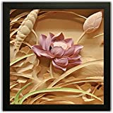 PPD Framed Floral Wall Paintings For Living Room And Bedroom With Frame Size 12 Inch X 12 Inch With Special Effect Textured (11)