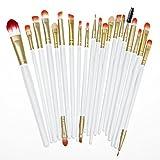 20 Pcs Makeup For Women Eye Brushes Cosmetic Set Powder Foundation Eyeshadow, Foundation Brush, Eye Shadow Brush...