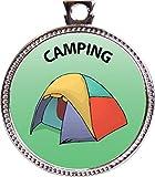 Keepsake Awards Camping Silver Award Disk