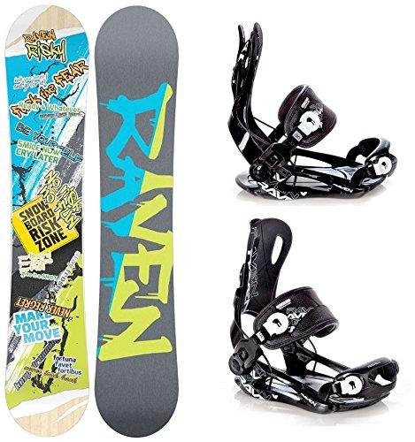 Snowboard Set: Snowboard Raven Risky Rocker + Bindung Raven Fastec FT270 Black L