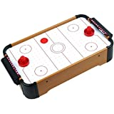 Homeware Wooden Mini Table Top Air Hockey Game Set 21 - Battery Operated