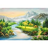 Mutong Toys Adult 1000-piece Puzzle Ink Painting Style Wooden Jigsaw Puzzles ST004-Mountains