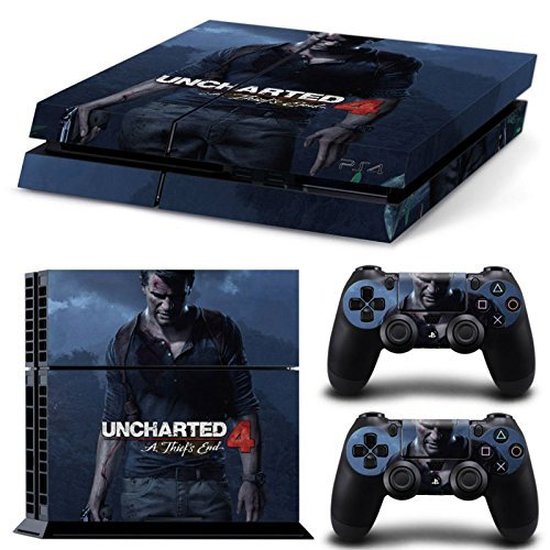 Elton Uncharted 4 PlayStation 4 Limited Edition Sticker Skin For PS4 Console And Controllers