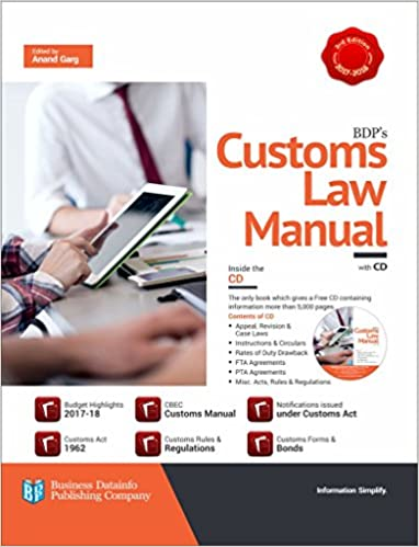 BDP's Customs Law Manual (2017-18 Budget Editon with CD)