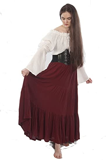 115e4ca78b020 Romantic Renaissance Peasant Skirt by Dress Like A Pirate