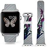 3C-LIFE Iwatch Cute Lovely Band For Apple Watch Sport 38mm Space Aluminum Case With White Sport Band St.patrick... - B01BTR95JO