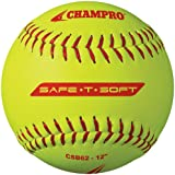 Champro Safe-T-Softball Cover (Optic Yellow, 12-Inch), Pack Of 12, 12-Inch/Optic Yellow