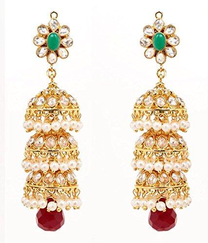 Akshim Multicolour Alloy Earrings For Women - B00NPYA4EA