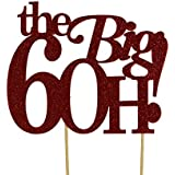 All About Details Red The Big 6OH! Cake Topper