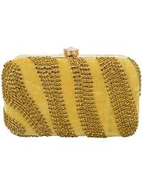 Tooba Women's Clutch (Golden, Golden Tiger 6x4)