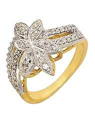Kimatra American Diamonds Gold Alloy Ring For Women