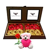 Nice Wrapped Rocks Treat With Teddy And Rose - Chocholik Chocolate Premium Gifts