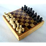 "8""X8 Indian Stone Chess Game Board Set + Hand Crafted Stone Pieces"
