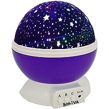 Star Starlight Projector Night Light Bedside Lamp, SHAVA USB / Battery Powered Romantic Rotating Cosmos Star Light...