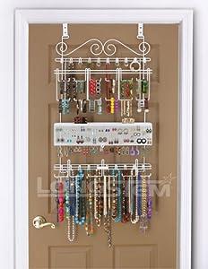 Amazon.com: Overdoor/Wall Jewelry Organizer in White By