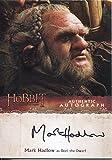 The Hobbit Desolation Of Smaug Autograph Card Mark Hadlow as Dori the Dwarf