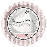 8 Count Elegant Wedding Dinner Plates, 9-Inch