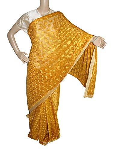 Beautiful RUDA Designer Phulkari Embroidered Saree-JS1122