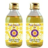 Pure Almond Oil - Pack Of Two (100ml + 100ml) Prunus Dulcis - 100% Natural Cold Pressed